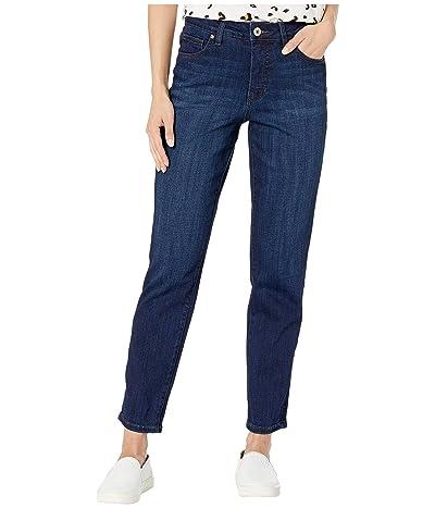 Jag Jeans Reese Vintage Straight Leg Jeans in Crosshatch Denim (Night Breeze) Women