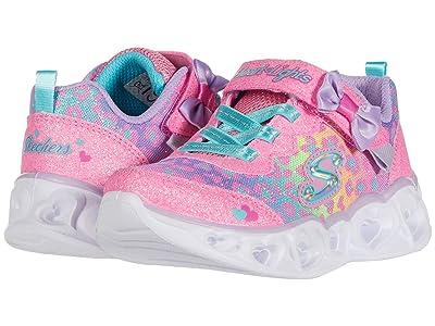 SKECHERS KIDS Sport Lighted Heart Lights Untam 302088N (Toddler/Little Kid) (Hot Pink/Multi) Girl