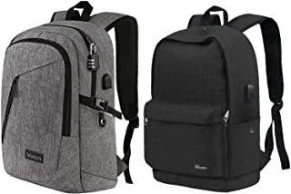 Laptop Backpack, Anti Theft College Bookbag with USB Charing Port | School Backpack for Student, Grey & Black