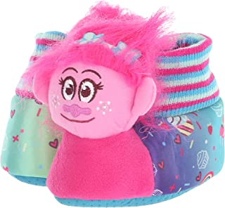 Favorite Characters Trolls Girls Poppy Pink Headed Slippers Toddler/Little Kid