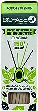 Caja con 150 popotes ecologicos hechos con Semilla de