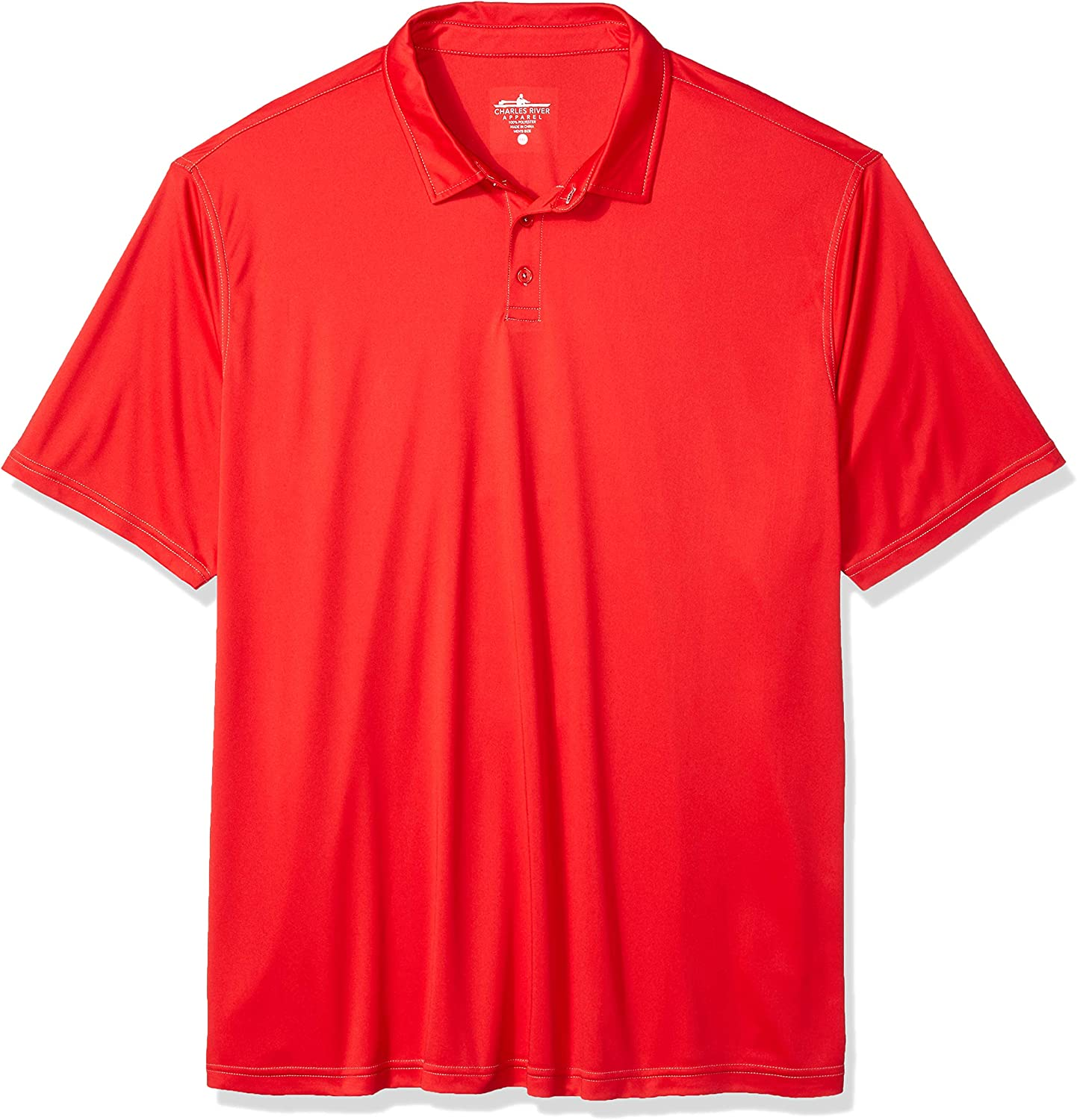 Charles River Apparel Men's Wellesley Polo Shirt, red, 5XL
