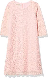 فستان بناتي مزين بالزهور من APRIL Girl، فستان دانتيل 3/4 كم