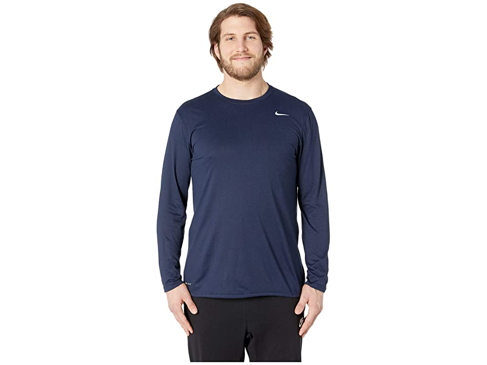 5c010796e6e22c Nike Big Tall Dry Tee Long Sleeve Legend 2.0 (Obsidian Black Matte Silver)  Men s T Shirt