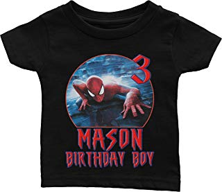 Custom Spiderman Birthday Shirt