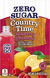 Sponsored Ad - Country Time Sugar-Free Raspberry Lemonade Powdered Drink Mix (72 On-the-Go Packets, 12 Packs of 6)