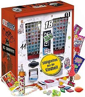 Nostalgie Adventskalender I Kalender mit früheren Süßigkeiten I Geschenkset nostaglisch werden I nostalgische Vorweihnacht...