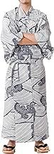 Tokyoin Traditional Made in Japan Cotton Yukata Robe (Japanese Pajama Kimono) Easy Wearing Unisex Design OBI Yukata set2