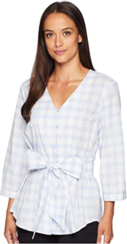 Gingham Wrap Top