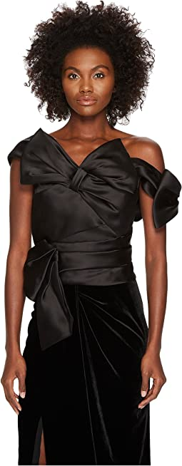 Marchesa Satin Bow Top