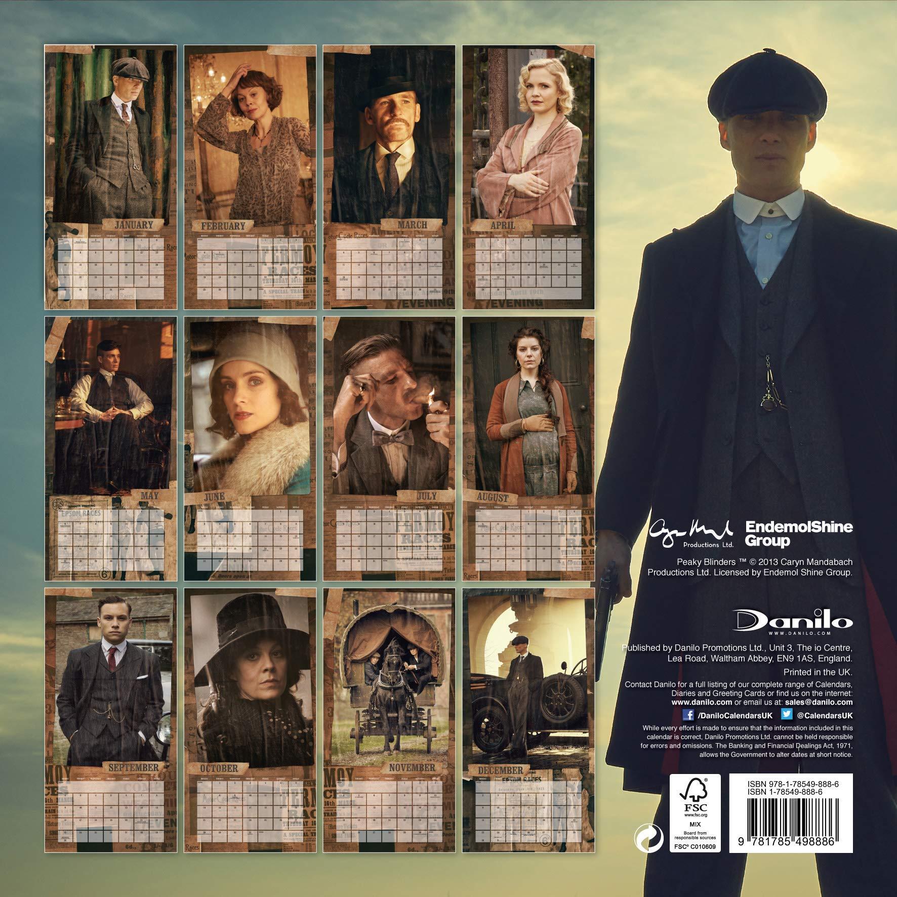 Peaky Blinders 2019 - Calendario de pared oficial cuadrado con pegatinas de organización: Amazon.es: Oficina y papelería