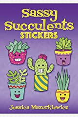 Sassy Succulents Stickers Paperback