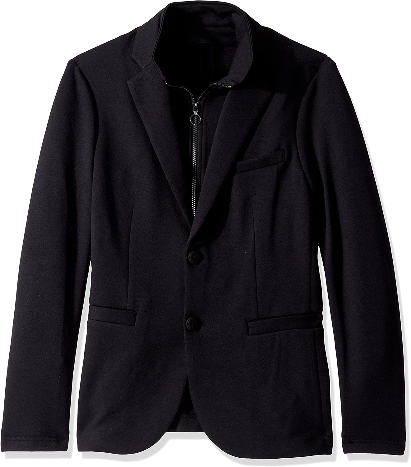 A X Armani Exchange New Free Shipping Men's Solid Double S Blazer Up Popularity with Knit Zip