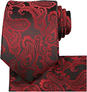 red and black paisley