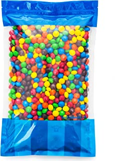 Bulk M&M's Plain Milk Chocolate in Resealable Bomber Bag, Candy Snacks (5 lb Bag)