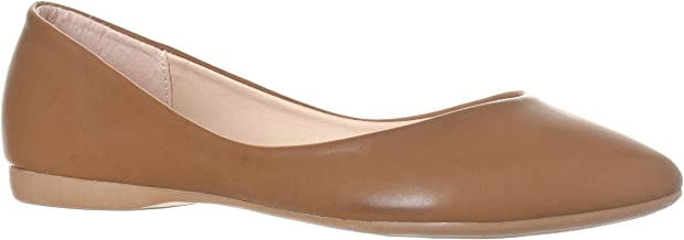 Riverberry Women's Ella Basic Closed Pointed Toe Ballet Flat Slip On Shoe