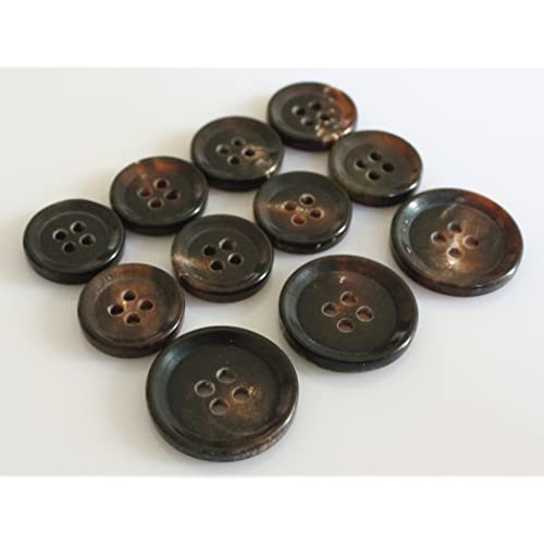 25 NEW 1 INCH DULL FINISH HUNTER GREEN BUTTONS