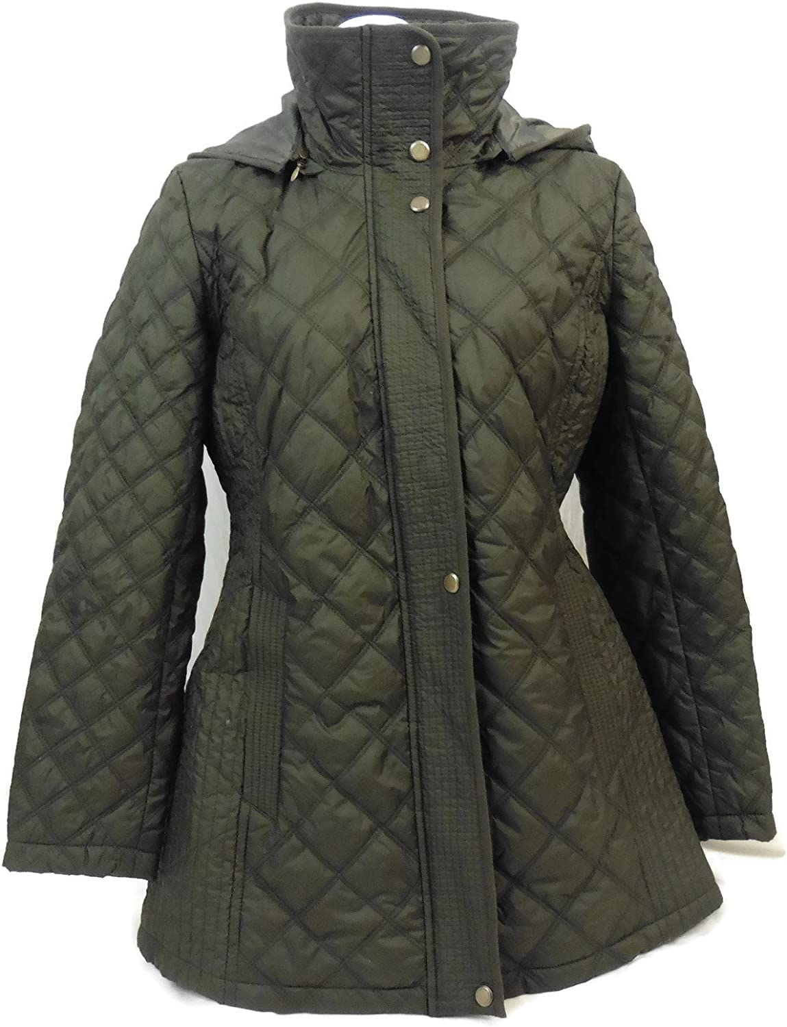 Marc New York by Andrew Marc Women's Fay Mixed BoxQuilt Jacket Navy