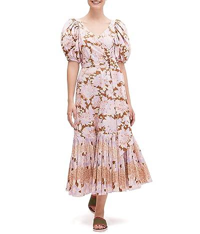 Kate Spade New York Exotic Bloom Poplin Dress (Hot Cider) Women