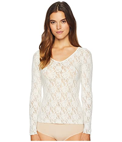 Hanky Panky Signature Lace Unlined Reversible Top (Marshmallow) Women