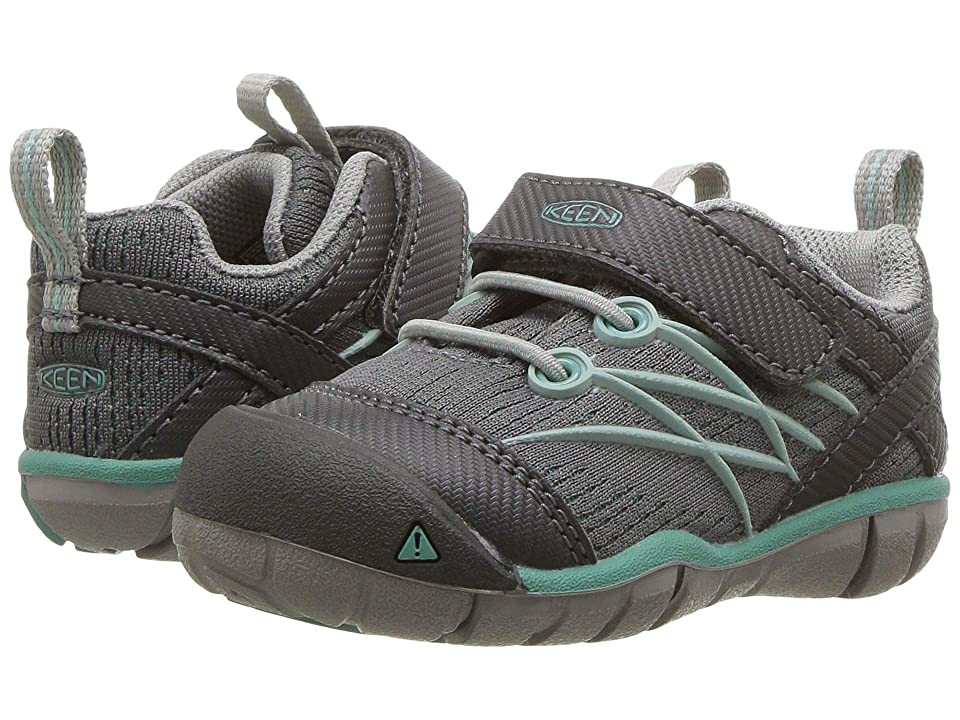 Keen Kids Chandler CNX (Toddler) (Steel Grey/Wasabi) Girls Shoes