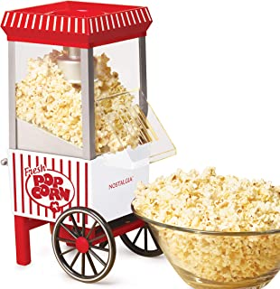 Nostalgia OFP521 12-Cup Hot Air Popcorn Maker, Candy Stripe