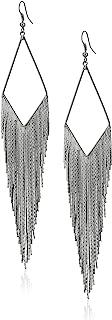 GUESS Basic Fringe Linear Drop Earrings
