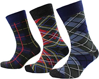 Viyella 3 Pair Pack Mens Tartan Design Wool Sock