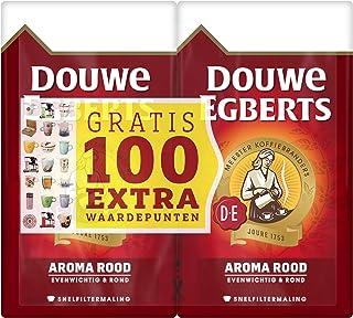 Douwe Egberts Filterkoffie Aroma Rood Dubbelpak met Gratis 100 Extra Waardepunten (6 Kilogram, Intensiteit 05/09, Medium R...