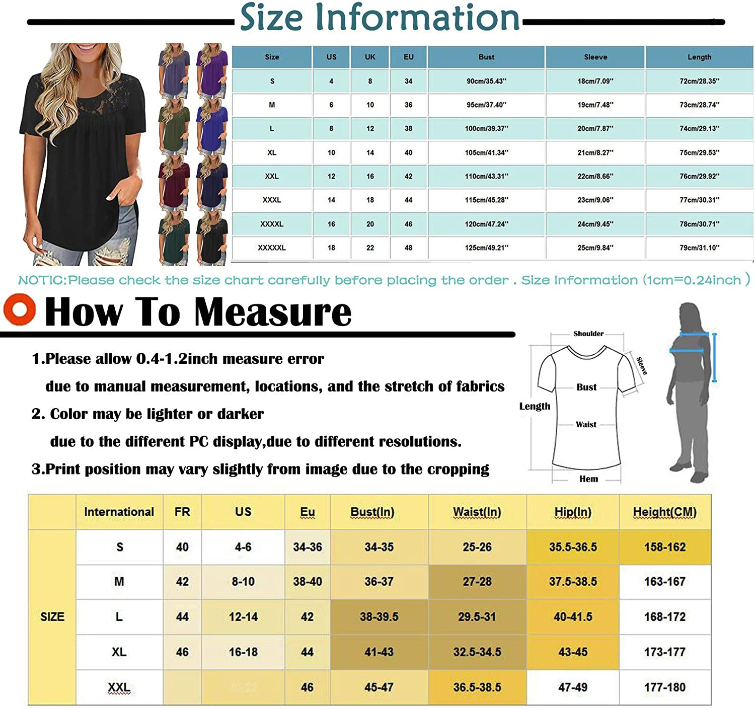 Aukbays Womens Summer Tops, Short Sleeve Batwing Sleeves for Women Casual Basic Comfy Tee Shirt Round Neck Tunic Tops
