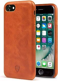 iPhone 7缓冲保护套 vaultskin SOHO 皮革钱包外壳–高级意大利皮革超薄设计 法国白兰地