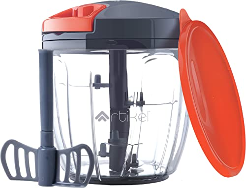 Artikel Chopper & Blender with Storage Lid | Chops Vegetables, Nuts & Fruits | Blends Flour | Egg Beater | Meat Mince...