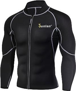 کت و شلوار مردانه عرق نئوپرن از دست دادن وزن کت و شلوار تمرین پیراهن بدن سازی ژاکت تناسب اندام ژاکت تناسب اندام لباس بالا آستین بلند