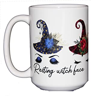 resting witch face cup