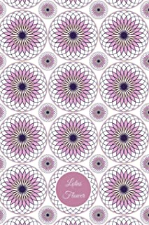 Lotus Flower: Lined Journal with quotes - Lavender, White, and Orange vector art on a white background