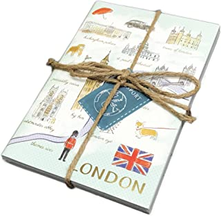 London Paris & New York Destination Themed 3 Pack Lined Paged Novelty Journals 8.5