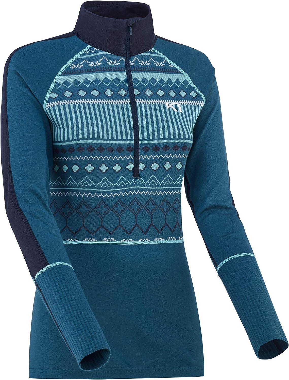 Kari Traa Women's Perle Half-Zip Base Layer Top - Long Sleeve Moisture-Wicking Thermal Shirt