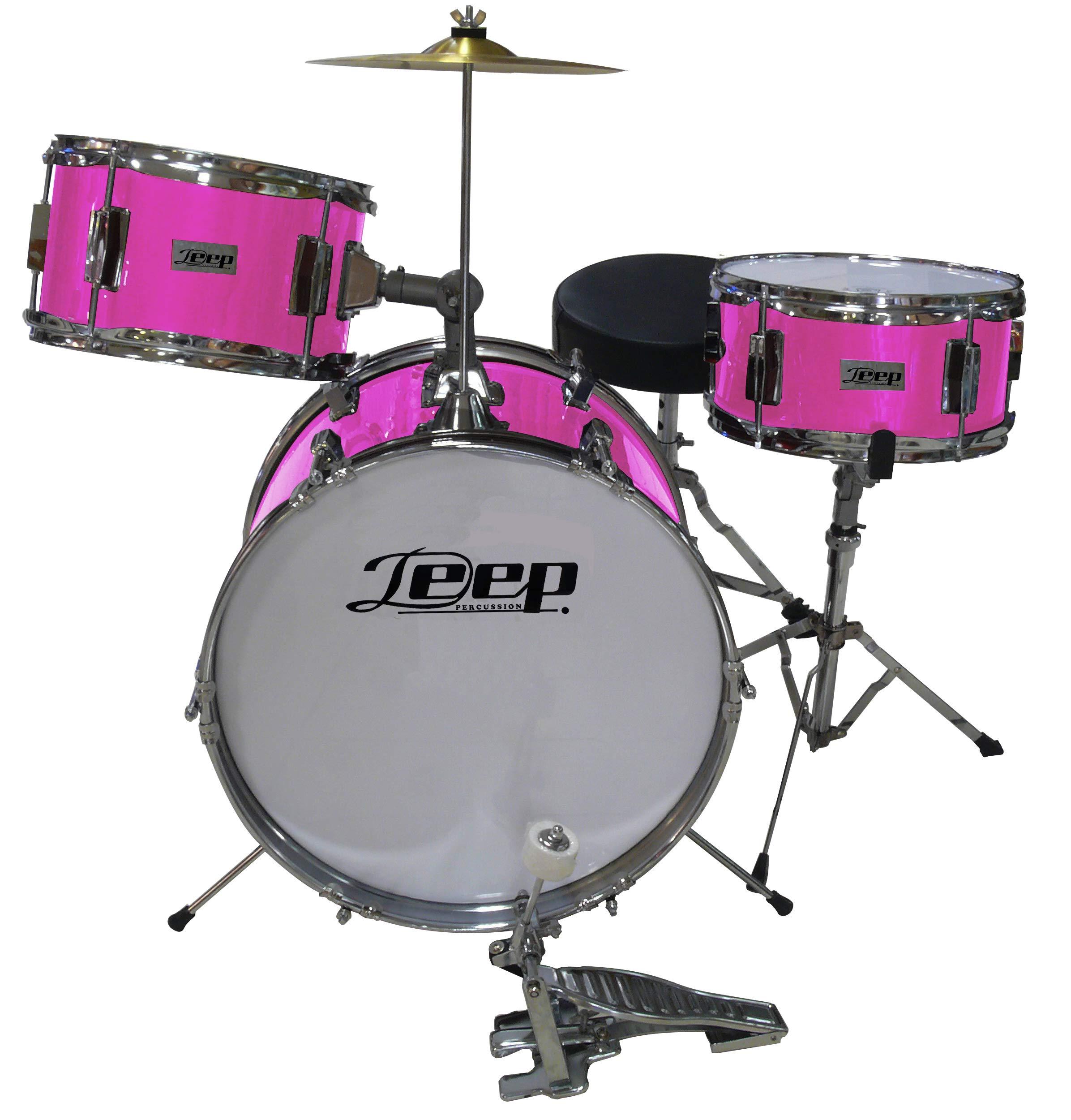 Bateria Infantil para niños de madera Deep GC1042PK2 rosa chicle: Amazon.es: Instrumentos musicales