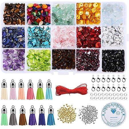 LEMESO pack de Surtidos de abalorios pietras colores adornos Kits para hacer bisutería