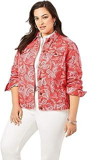 Jessica London Women`s Plus Size Classic Cotton Denim Jacket