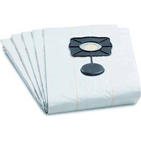 1 x Air Filter for Kärcher WD 4//5//6 Filter 10 x Fleece Vacuum Cleaner Bags