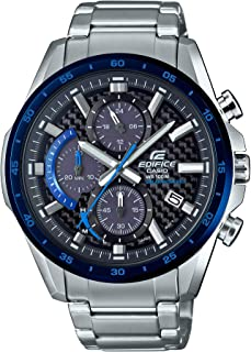 Men's Edifice Quartz Watch with Stainless-Steel Strap, Silver, 22 (Model: EQS-900DB-2AVCR)