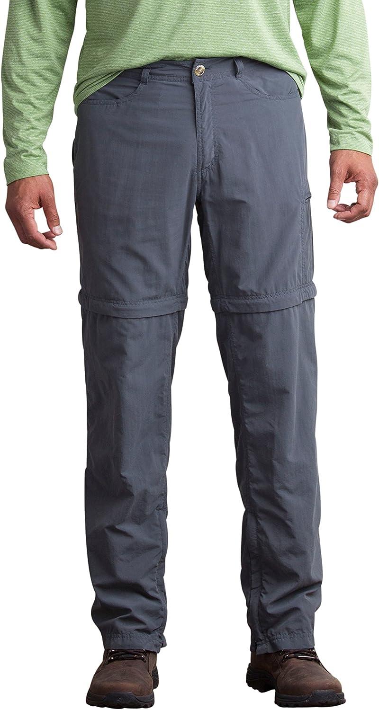 ExOfficio Men's BugsAway Sol Cool Ampario Convertible Pant, Dk Pebble, 32
