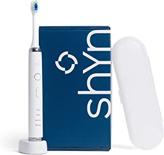 Shyn Sonic Rechargeable Electric Toothbrush with Whitening Brush Head, Charger, and Travel Case