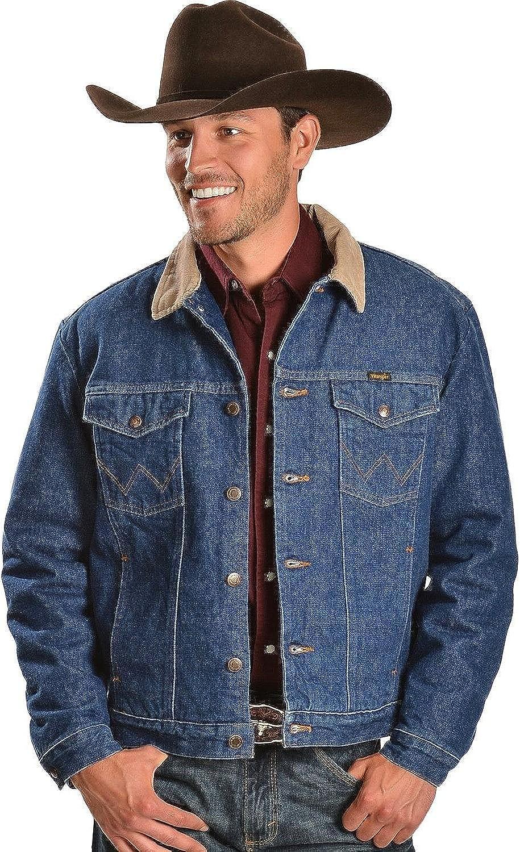 New life Wrangler Men's Regular Blanket Jacket Lined San Diego Mall Denim