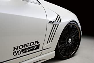 DECALS USA Honda Racing Sport Decal Sticker Emblem Logo Civic S2000 R Type Accord Prelude Black