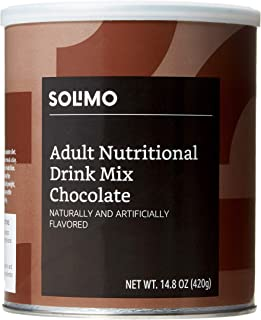 Amazon Brand - Solimo Adult Nutritional Drink Mix Powder, Meal Replacement, Chocolate Flavor, 14.8 Ounce, 7 Servings