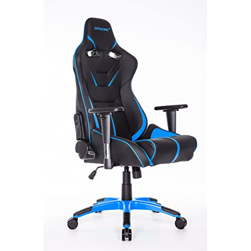 MOOSENG Large Size Series Ergonomic Racing Style Computer Gaming Chair-Black/Blue