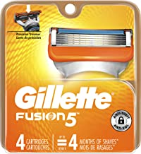 Gillette Fusion5 Men's Razor Blades, 4 Blade Refills (Packaging May Vary)
