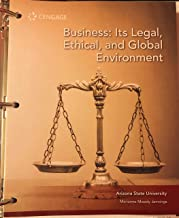 Business: It's Legal, Ethical, and Global Environment 11th Edition